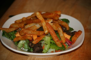 Chicken and Fries Salad No Dressing