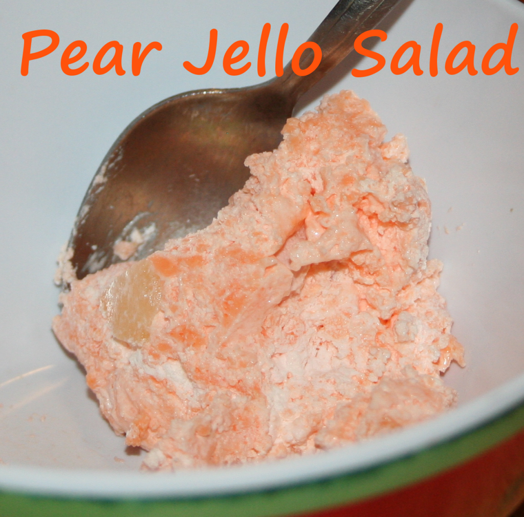 Pear Jello Salad ~ LifeOfJoy.me