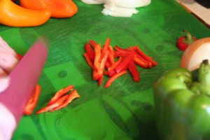 Cutting Mini Pepper ~ LifeOfJoy.me