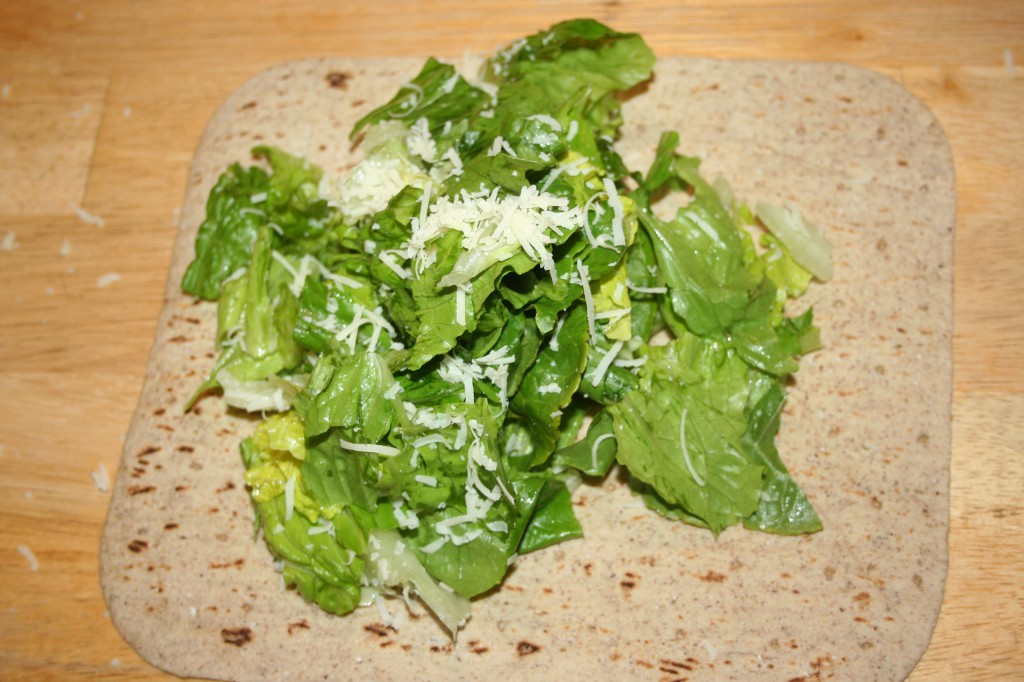 salad on flatbread ~ LifeOfJoy.me