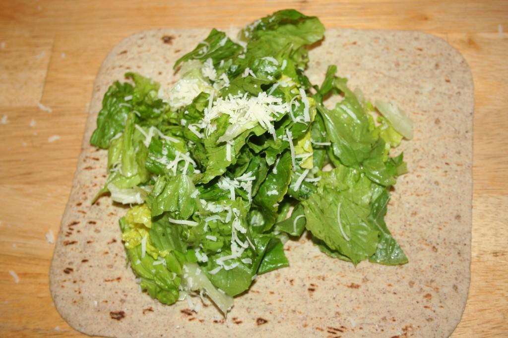 salad on flatbread ~ LifeOfJoy.me