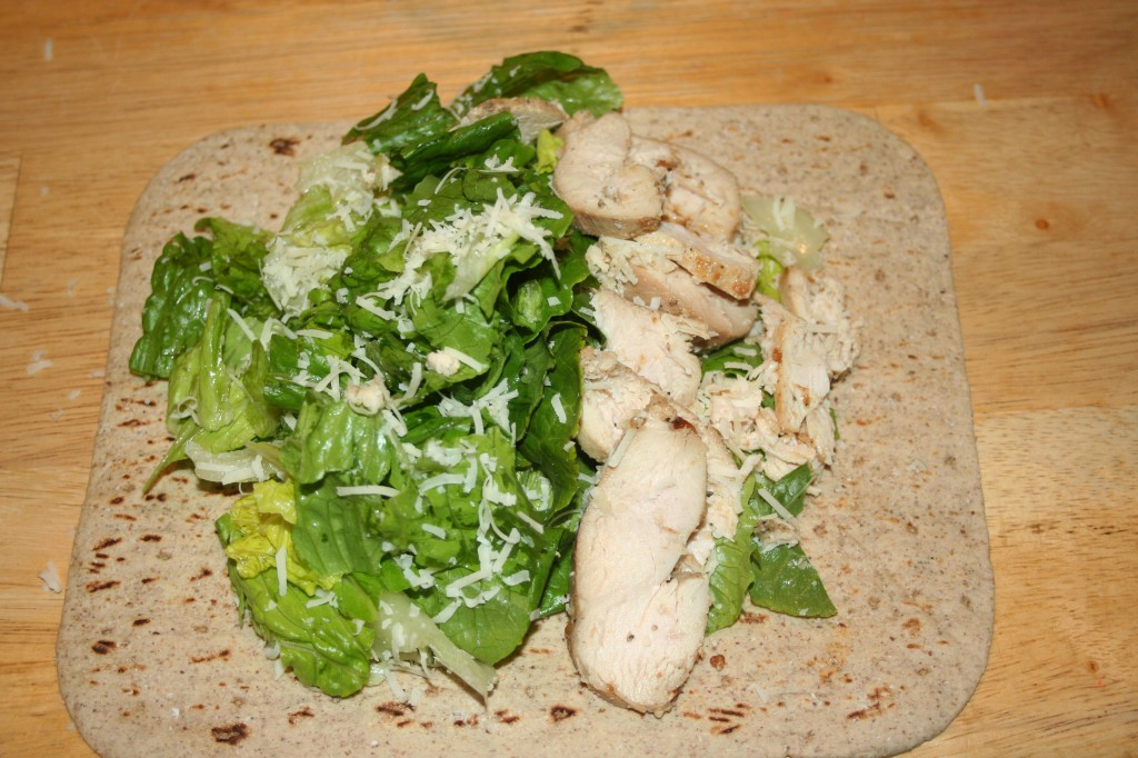 chicken on flatbread ~ LifeOfJoy.me