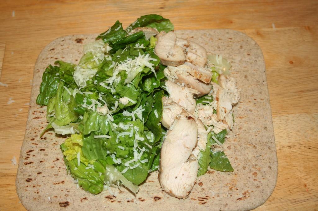chicken on flatbread ~ LifeOfJoy.me