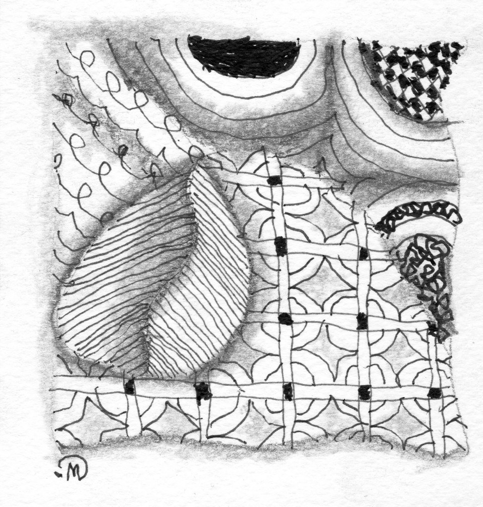 #194 Left Handed Zentangle ~ LifeOfJoy.me