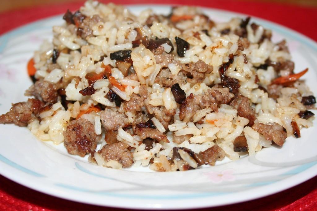 Sausage Rice Casserole ~ LifeOfJoy.me