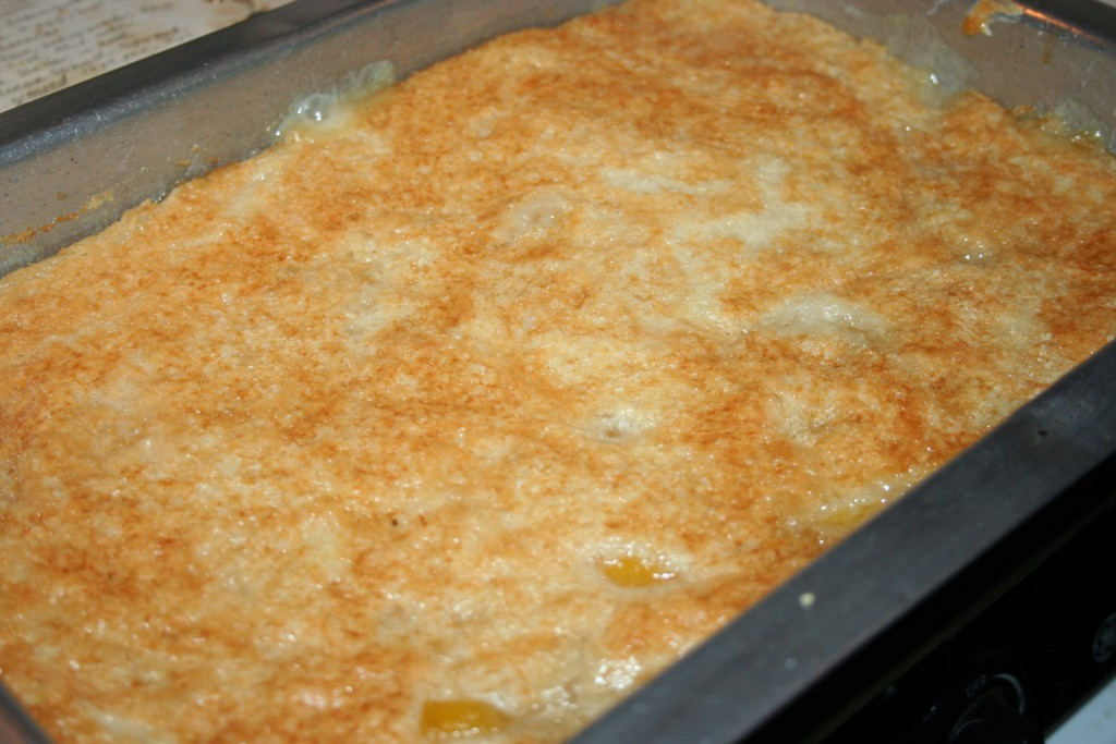 Cooked Peach Cobbler ~ LifeOfJoy.me