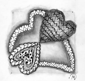 Heart Shaped Zentangle ~ LifeOfJoy.me