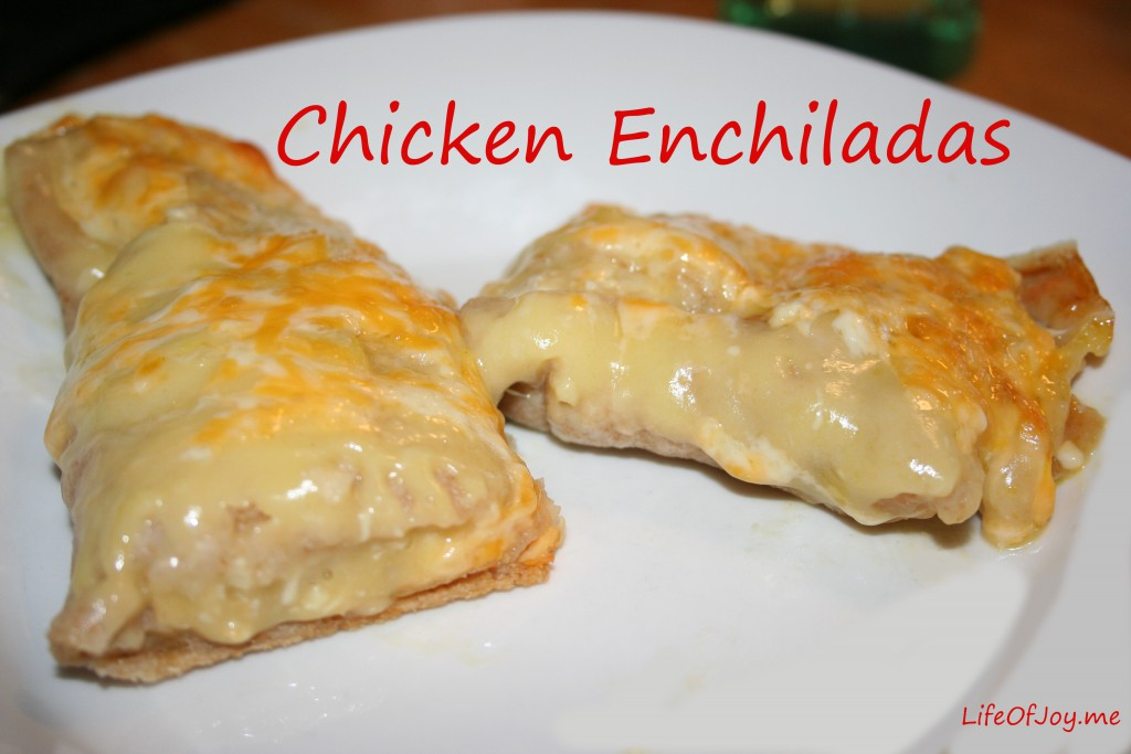 Chicken Enchiladas ~ LifeofJoy.me