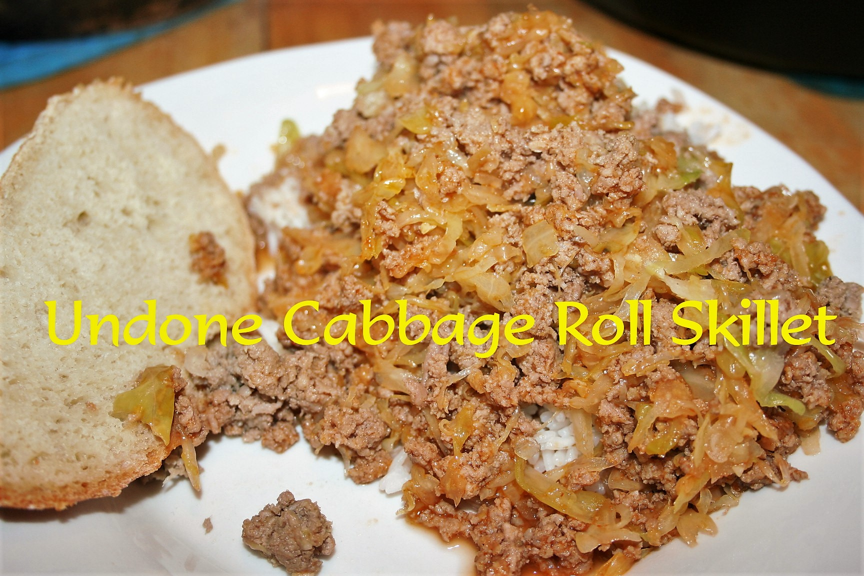 Undone Cabbage Roll Skillet ~ Lifeofjoy.me