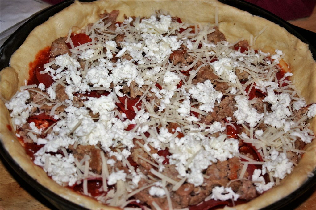 Last of the ingredients, deep dish pan pizza ~ Lifeofjoy.me