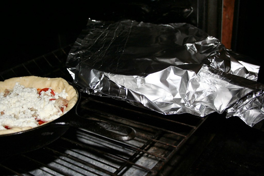 Cover with foil and bake pizzas ~ Lifeofjoy.me