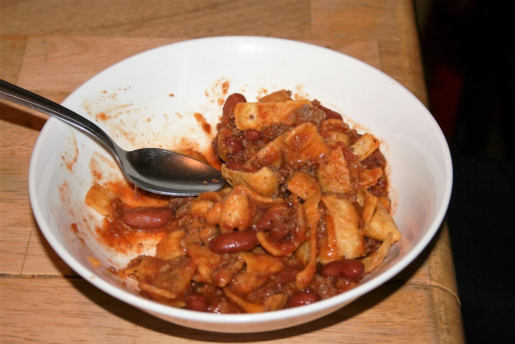 Tiff's bowl of chili pie ~ Lifeofjoy.me