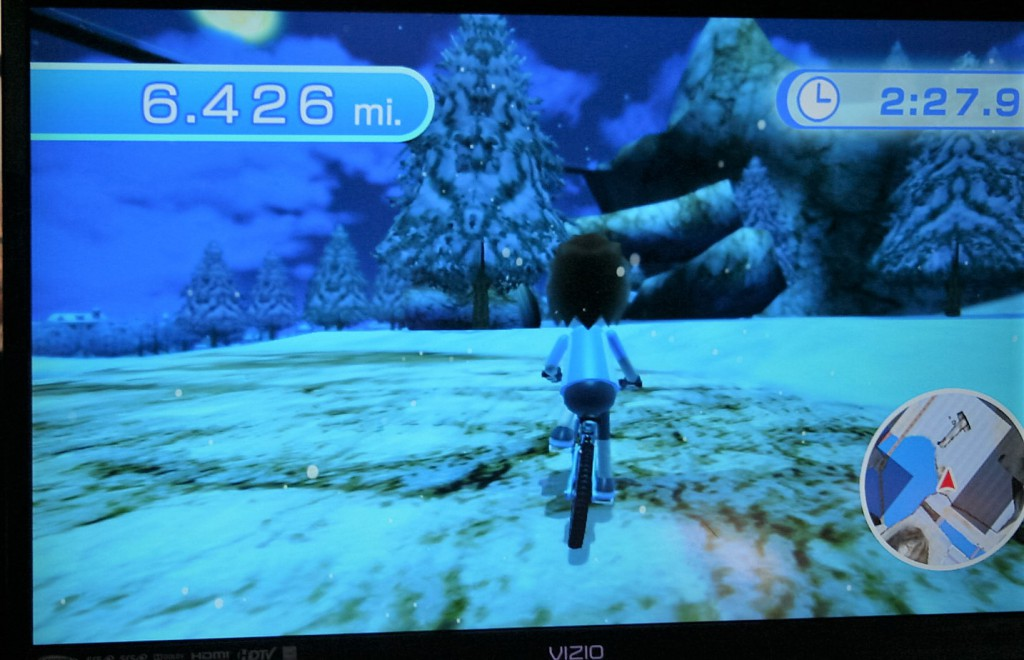 Snow on the Wii Fit U Free Ride ~ Lifeofjoy.me