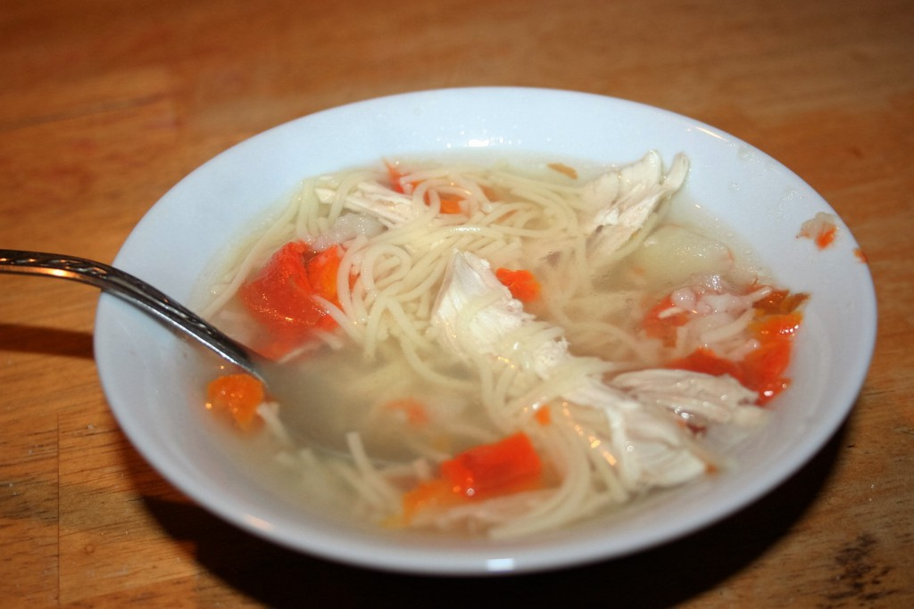 Chicken added ~ Granny's Chicken Soup ~ Lifeofjoy.me