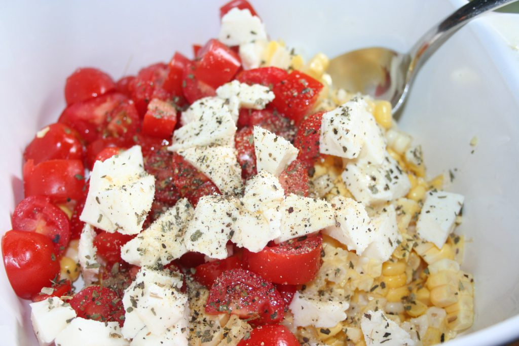 Corn, Tomato, and Mozzarella Salad ~ Lifeofjoy.me