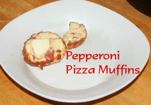 Pepperoni Pizza Muffins ~ Lifeofjoy.me