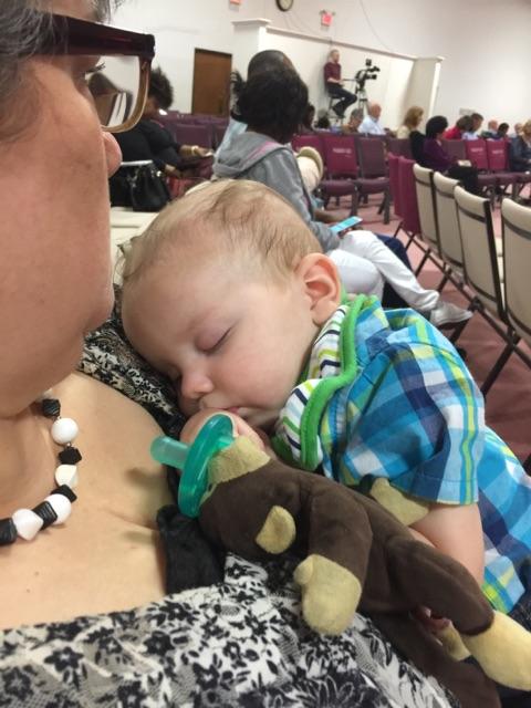 Napping on Grandma ~ Lifeofjoy.me