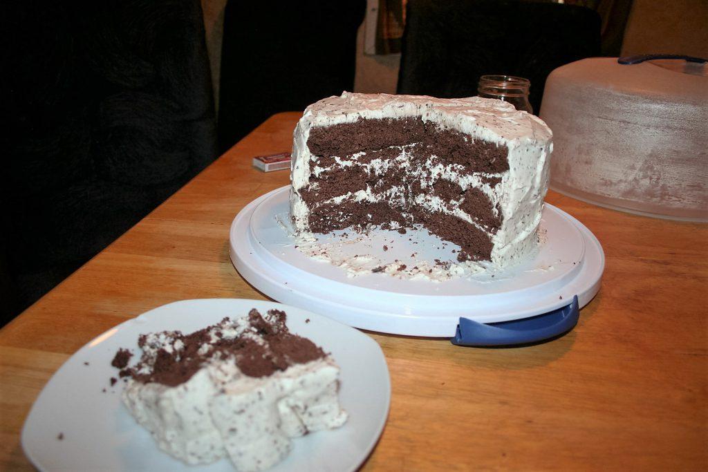 Tiff's Cake sliced ~ Lifeofjoy.me