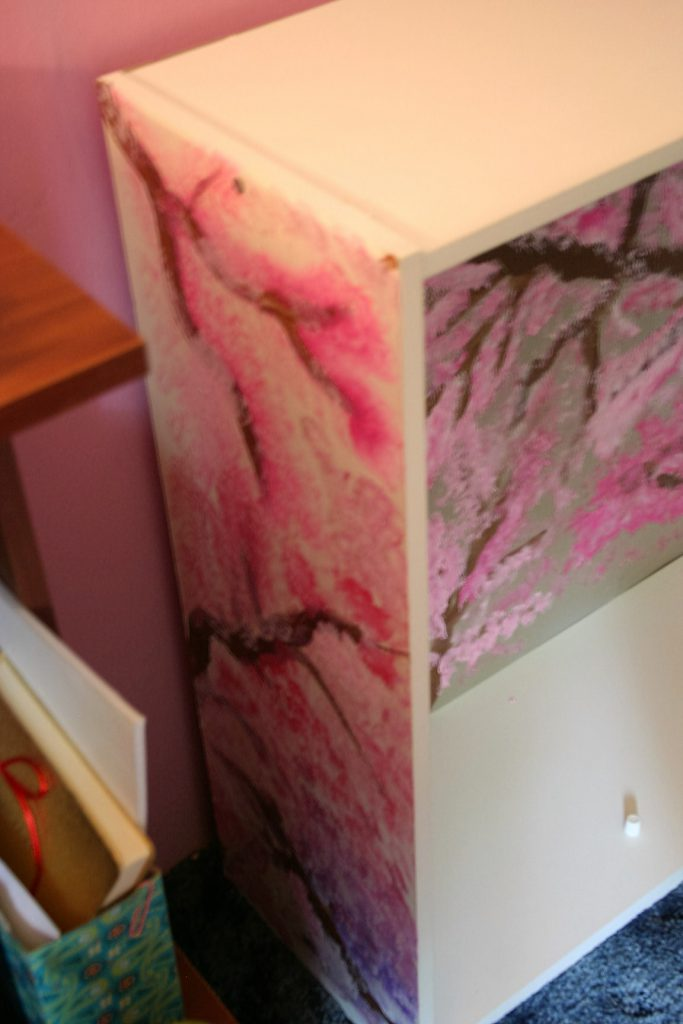Cherry Blossom Bookcase ~ lifeofjoy.me
