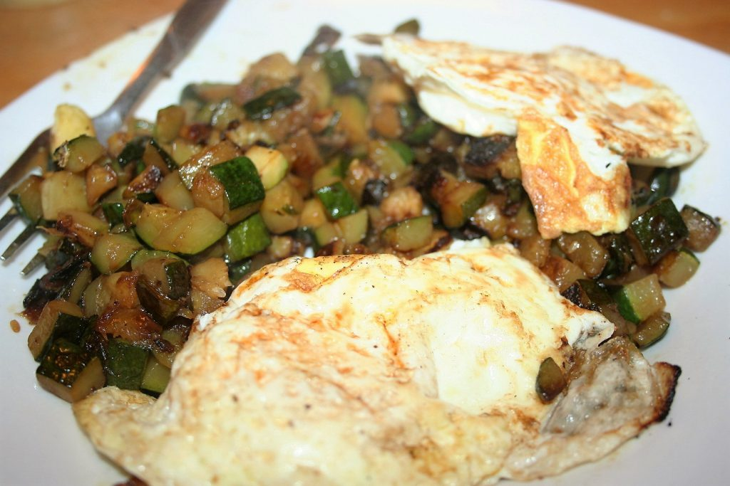 Eggs on Zucchini ~ Lifeofjoy.me