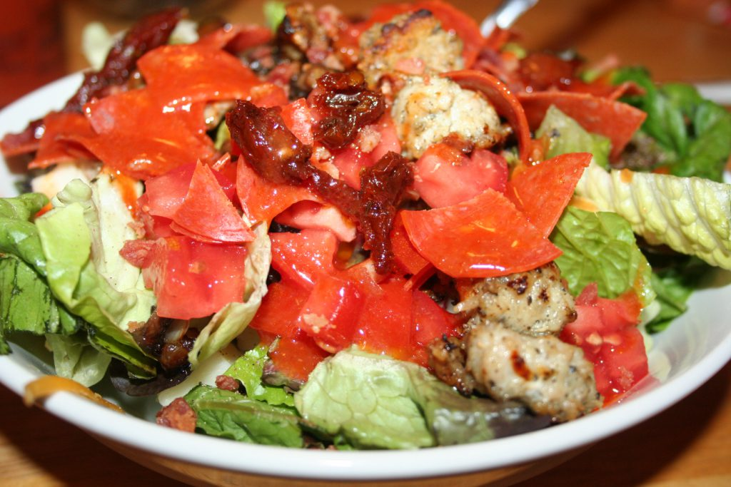 Pizza Salad ~ Lifeofjoy.me