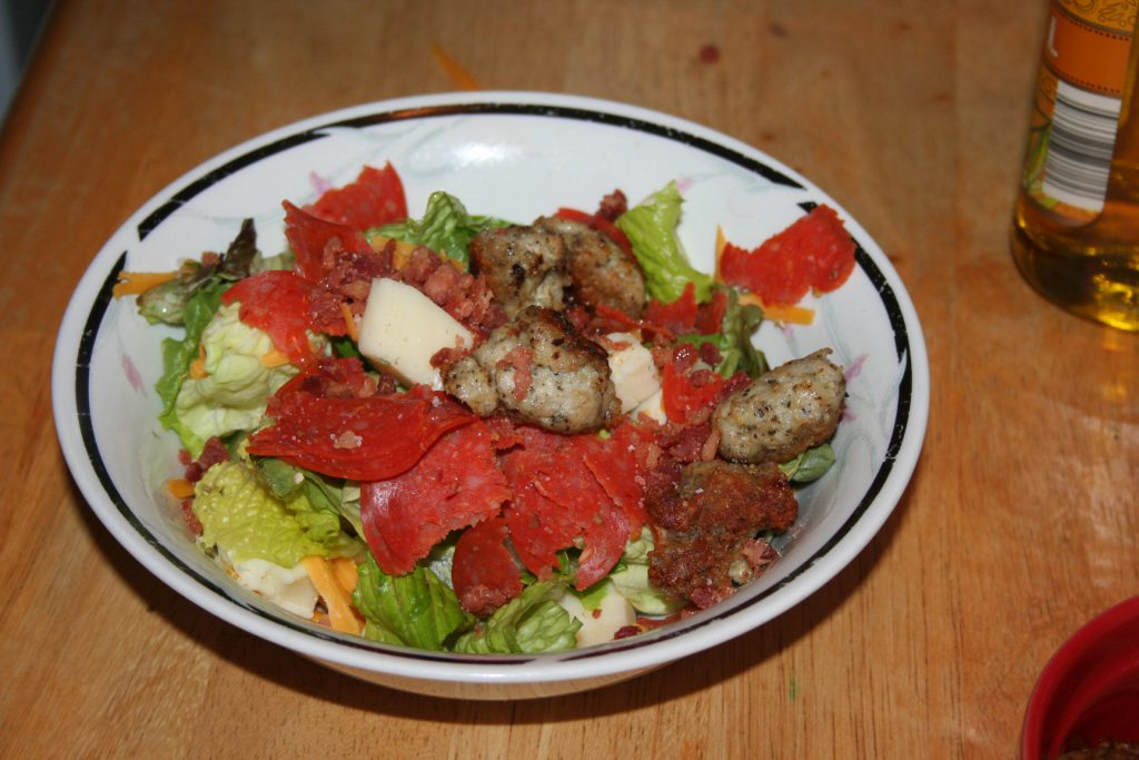 Sean's Pizza Salad ~ Lifeofjoy.me