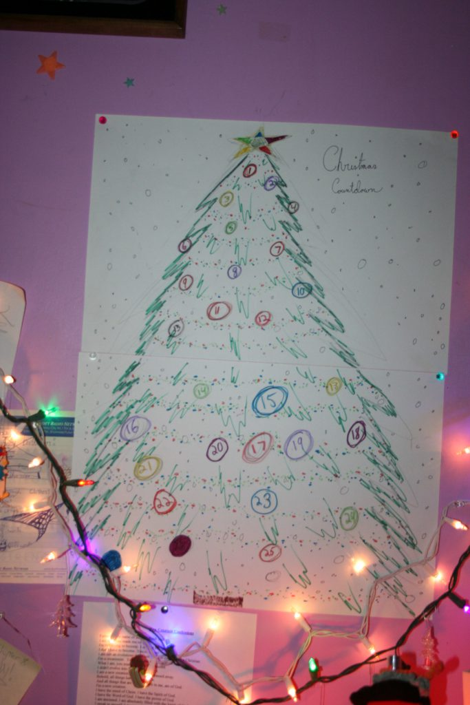 DIY Xmas Tree Countdown ~ Lifeofjoy.me