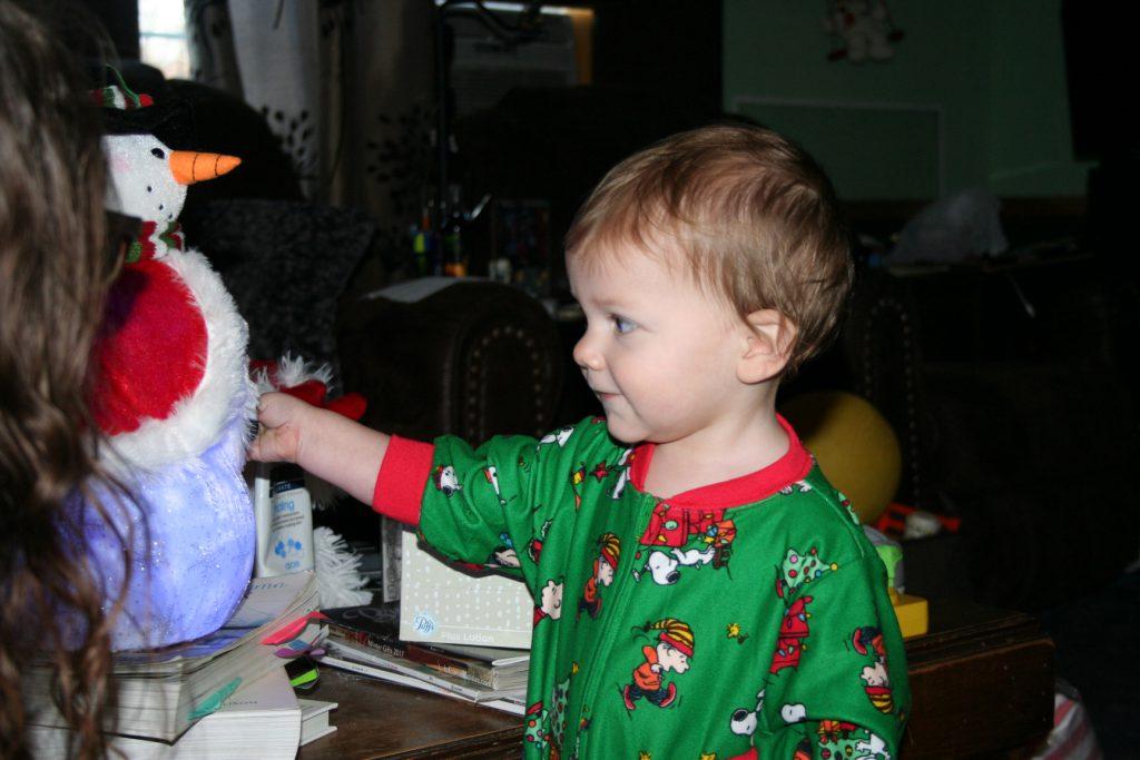 He likes the snowman ~ Lifeofjoy.me