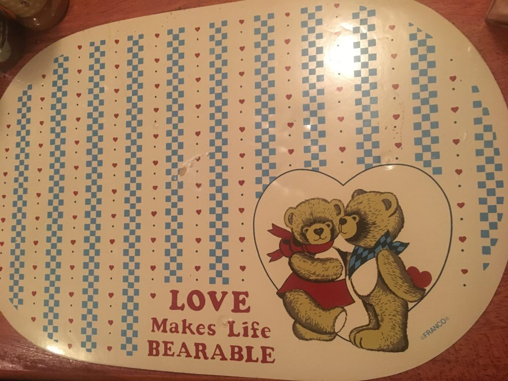 Love Bearable Place mats ~ Lifeofjoy.me