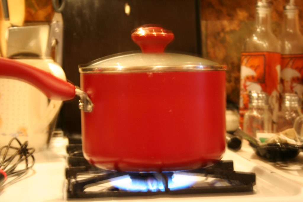 Red cooking pot oatmeal ~ Lifeofjoy.me