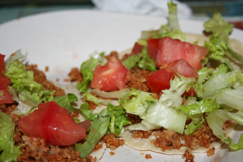 Dressed Quinoa Tacos ~ Lifeofjoy.me