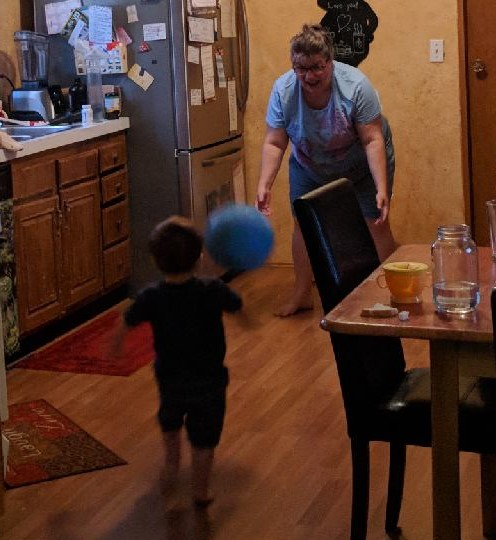 Playing ball with grandson ~ Lifeofjoy.me