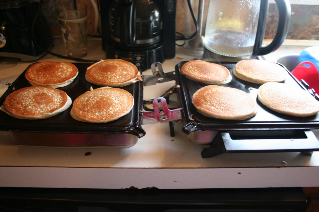 Pancakes on Griddle ~ Lifeofjoy.me