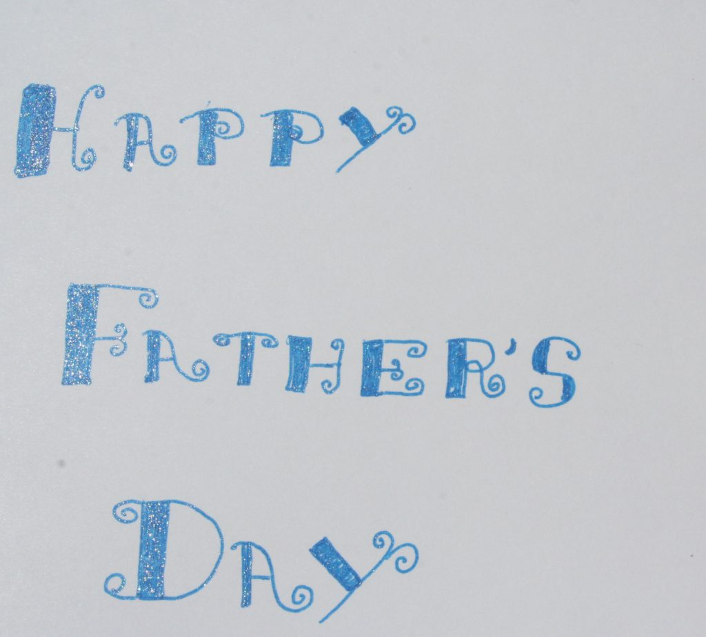 Glittery Father's Day Card ~ Lifeofjoy.me