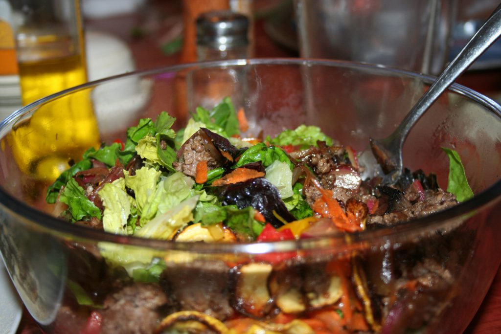 Warm Veggie Salad ~ Lifeofjoy.me