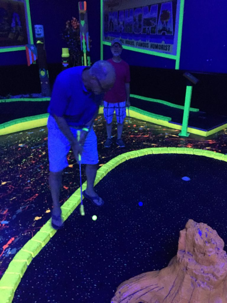Glow in the dark mini golf ~ lifeofjoy.me