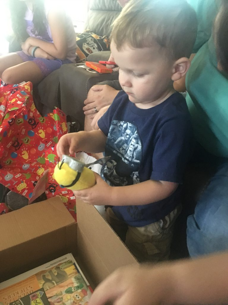 Grandson and gifts ~ Lifeofjoy.me