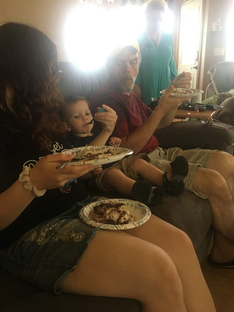 grandson eating mud pie ~ Lifeofjoy.me