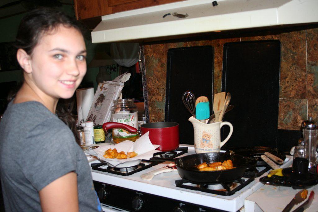 Making chicken nuggets ~ Lifeofjoy.me