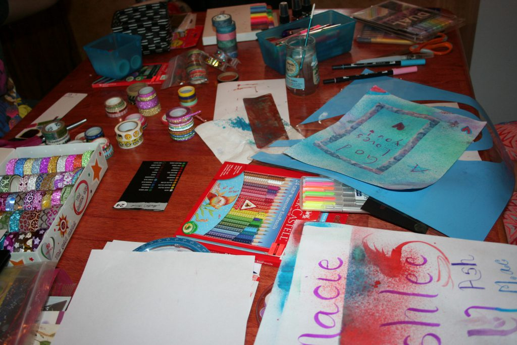 Washi tape, paint, etc. ~ Lifeofjoy.me