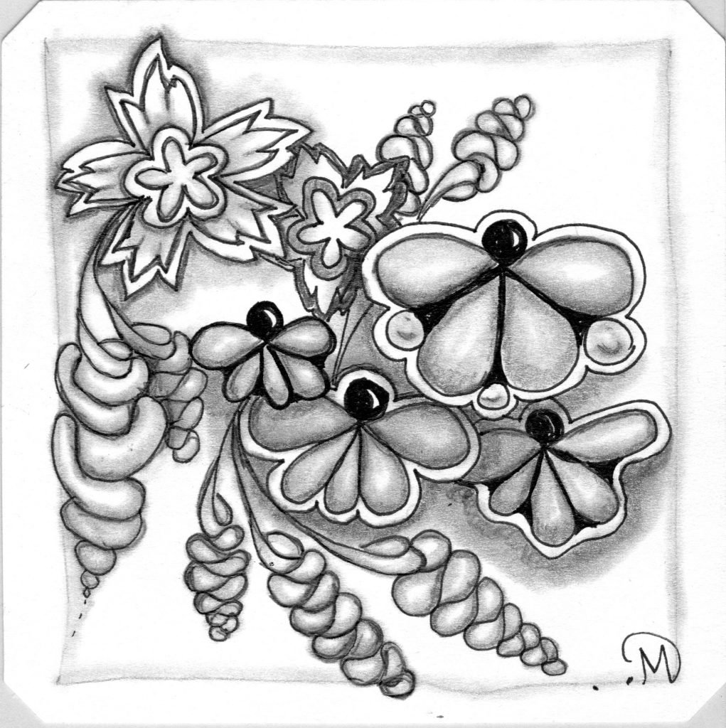 Shaded Butterfly Tile ~ Lifeofjoy.me