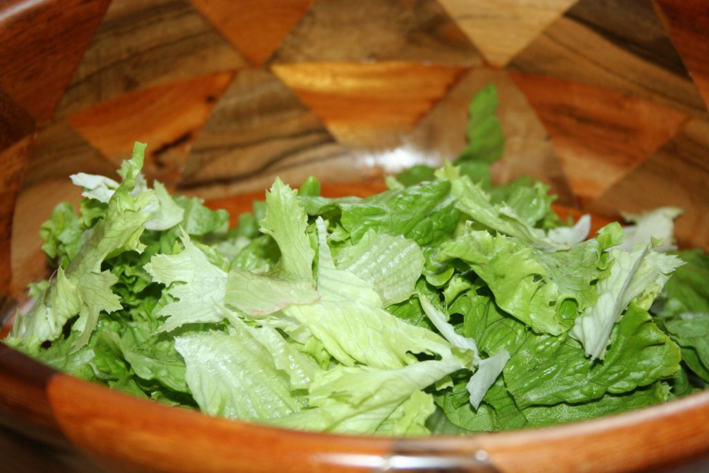 Lettuce in salad bowl ~ Lifeofjoy.me