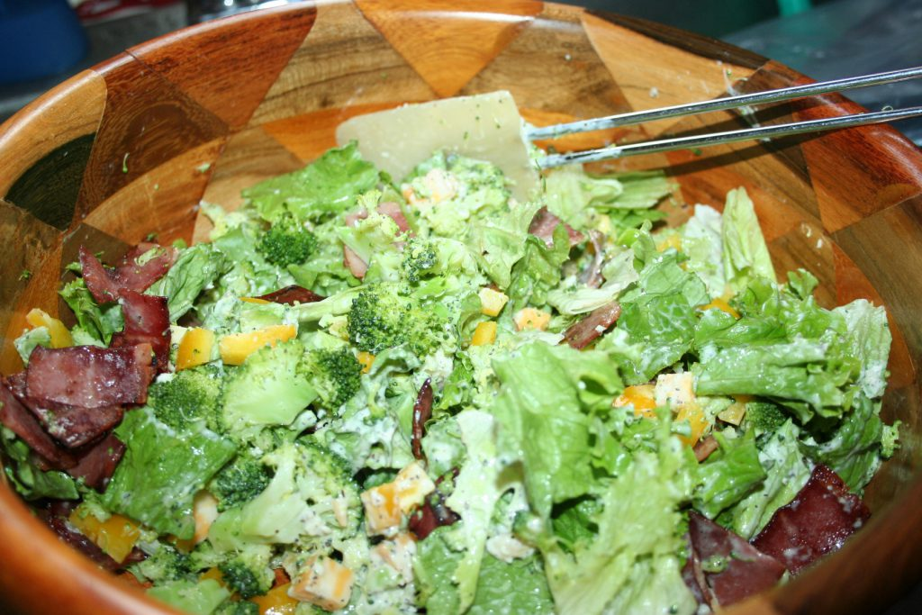 Creamy Pesto Broccoli Salad ~ Lifeofjoy.me