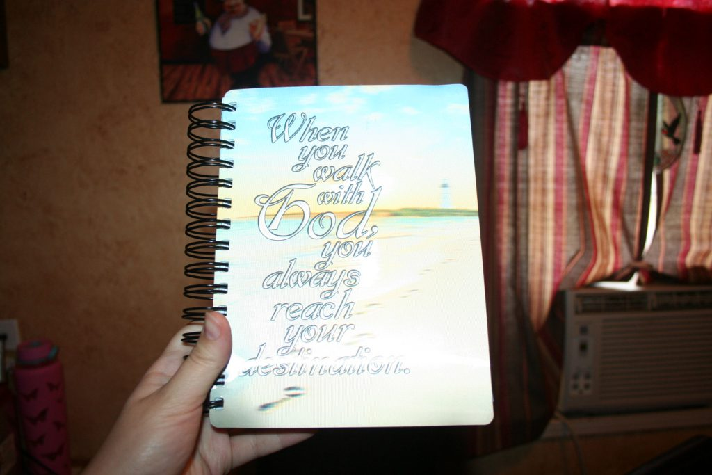 Painting holographic journal cover ~ Lifeofjoy.me