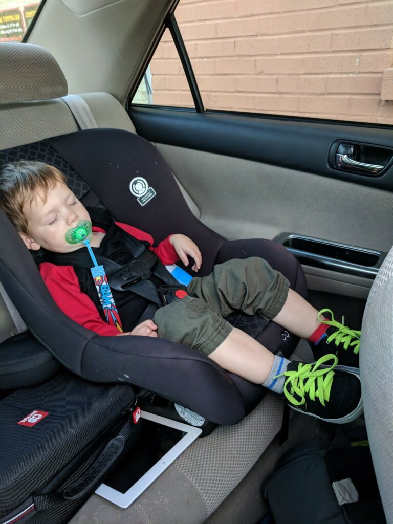 asleep in carseat ~ Lifeofjoy.me