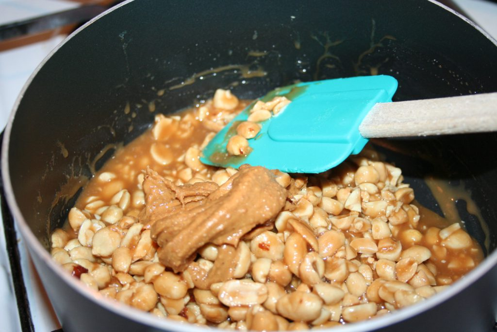 Adding peanuts and pb ~ Lifeofjoy.me
