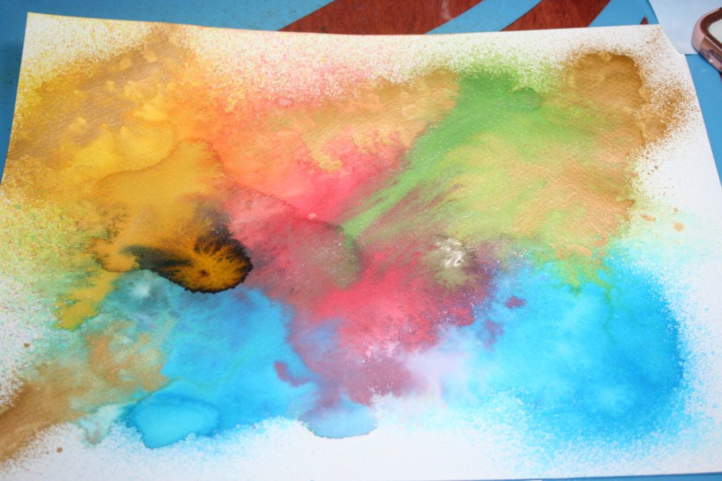 Paper with Spray Stain ~ Lifeofjoy.me