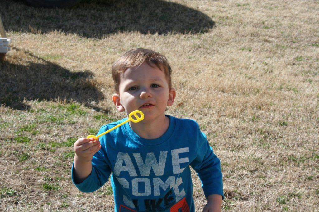 Grandson blowing bubbles ~ Lifeofjoy.me
