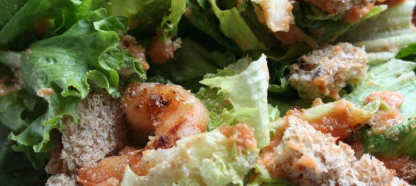 Simple shrimp salad ~ Lifeofjoy.me