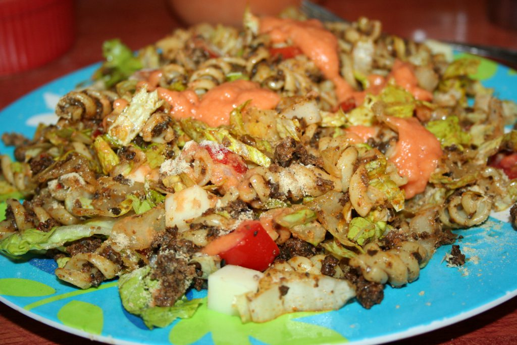 Dressing on Taco Mac Salad ~ Lifeofjoy.me